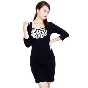 Đầm cotton body phối ngực
