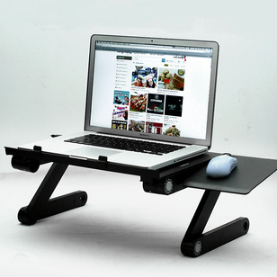 Bàn kê laptop xoay 360 độ có quạt tản nhiệt