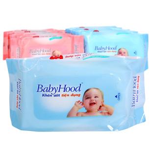10 gói khăn ướt tiện dụng BabyHood