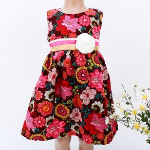 Váy nhung 2 lớp, đai nơ xinh xắn tại Đà Nẵng