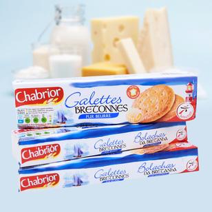 4 thanh bánh quy mỏng CHABRIOR Pháp giòn thơm