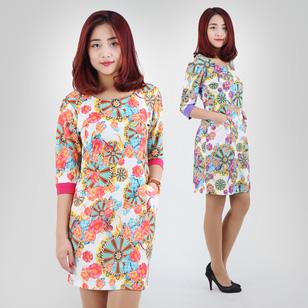 Váy Hoa Tay Lỡ Duyên Dáng