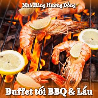 Buffet tối BBQ và Lẩu + Kem tươi miễn phí