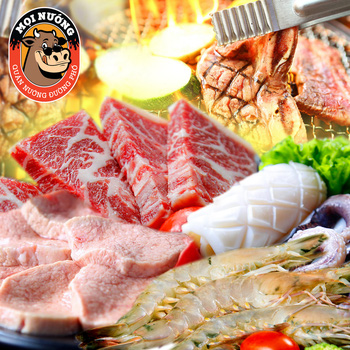 Buffet nướng đặc sắc tại Nguyen Hồng