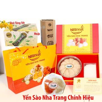 Yến sào Nha Trang100gr + 10gr Yến huyết + 10gr Yến trắng + Thùng trà Olong