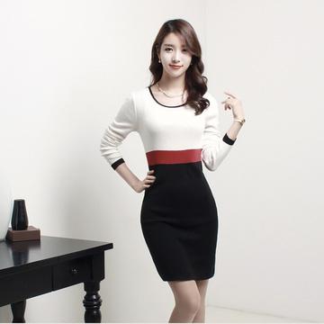 Đầm thun tay dài thời trang công sở Mina
