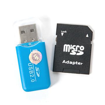 Thẻ nhớ 8GB + Đầu đọc thẻ + Adapter đọc thẻ