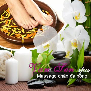 Massage chân đá nóng tại Vạn Sen Spa