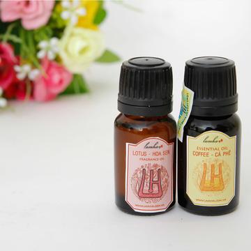 Combo 2 tinh dầu nguyên chất hương Cafe và Hoa sen