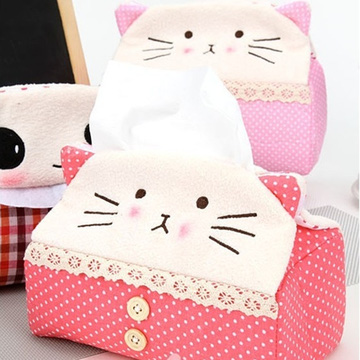 Hộp vải đựng khăn giấy Panda Kitty