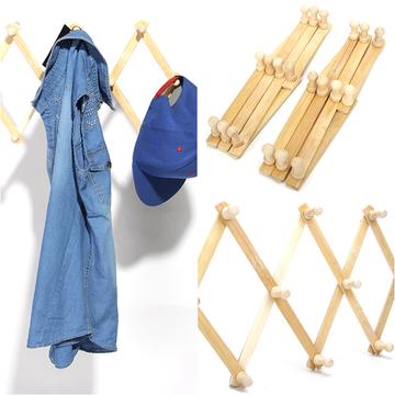 Combo 02 móc treo quần áo bằng tre gấp gọn