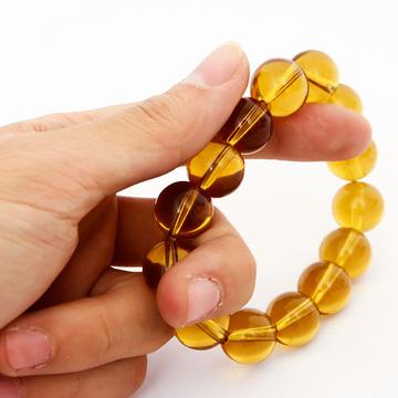 Vòng tay đá thạch anh vàng