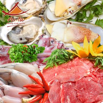 buffet Nướng lẩu thạch xanh - ẩm thực Ao Ta