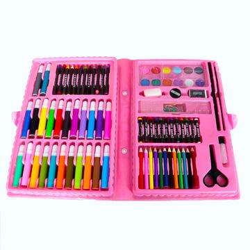 hộp bút chì màu và hình dán