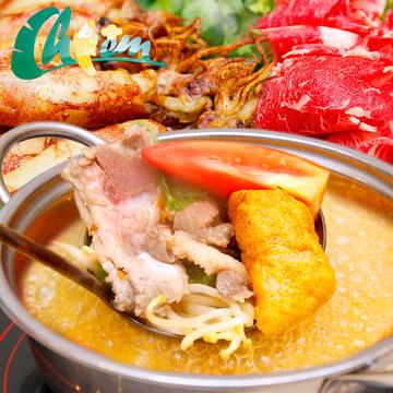 Lẩu riêu cua bắp bò + Thịt cuốn bánh tráng cho 4 người tại hệ thống nhà hàng Chiêm - Vincom Bà Triệu