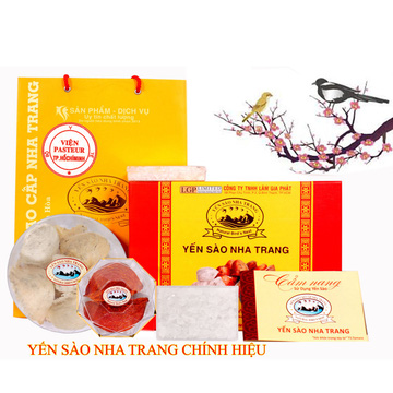 Yến sào Nha Trang khômg đường 100gr tặng 2 tai yến huyết rút lông