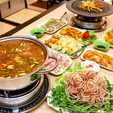 Set nướng lẩu Hàn quốc đặc biệt dành cho 02 người tại Quán Vui