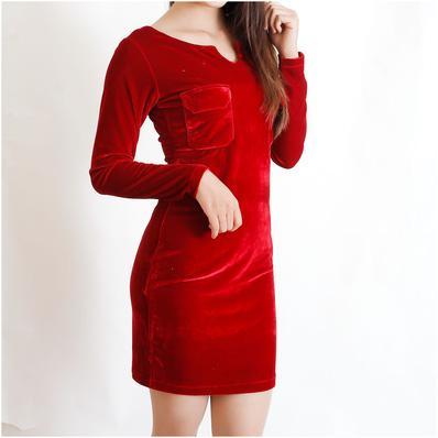Váy nhung tôn dáng yêu kiều