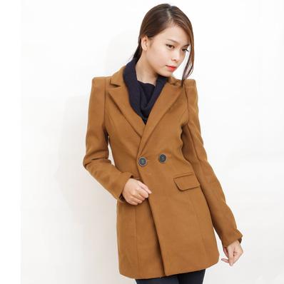 Blazer dạ dáng dài phong cách Hàn Quốc