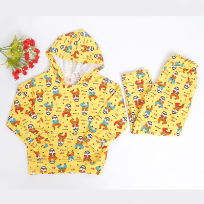 Bộ quần áo nỉ có mũ ấm áp cho bé