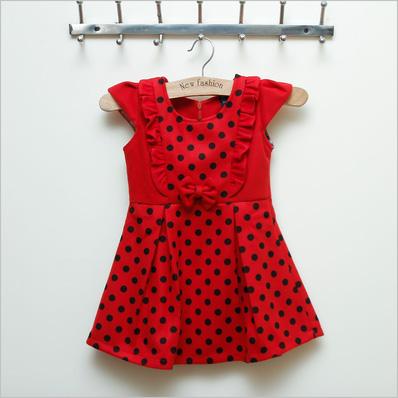 Váy dạ chấm bi Kitty kids xinh xắn