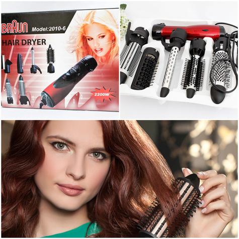 máy làm tóc mi ni, máy sấy tạo kiểu tóc 6 đầu khác nhau, máy dập xù khuyến mãi