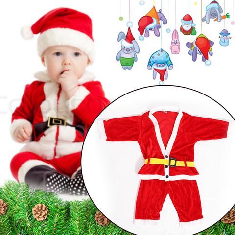 Bộ quần áo ông già Noel bằng vải nhung cho bé vui Giáng sinh - Chỉ 77.000đ/01 bộ