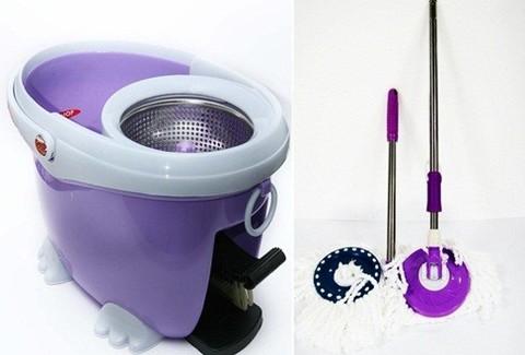 Cây lau nhà 360 độ Easy Mop Lồng Inox - Giúp công việc dọn dẹp nhà cửa của bạn trở nên nhanh chóng và dễ dàng hơn - Chỉ 690.000đ/01 Bộ