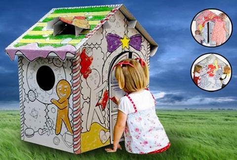 Ngôi nhà tập tô màu bằng bìa giấy, giúp bé vui chơi và phát triển các kỹ năng cần thiết - Chỉ 255.000đ