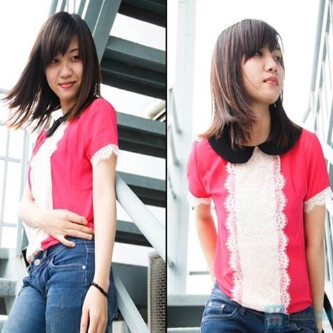 Áo voan ngắn tay thời trang - Tôn vẻ đẹp trẻ trung và duyên dáng cho bạn gái - Chỉ 99.000đ/01 chiếc