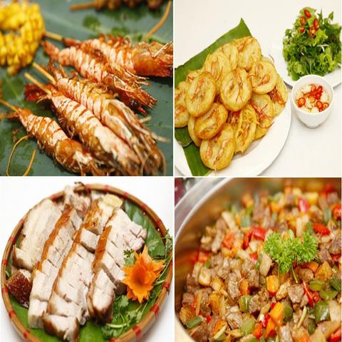 Buffet với các món ăn Hà Nội truyền thống tại Nhà hàng Thủy Tinh Cung - Khách sạn Bảo Sơn. Chỉ với 159.000đ