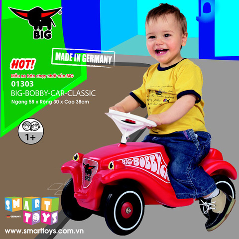 Xe chòi chân tập đi Big Bobby Car cho bé, nhập khẩu từ Đức - Chỉ 1.299.000đ/01 chiếc