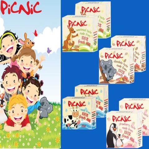 Sữa tươi Úc picnic Long Life Milk - sữa bò tươi 100%, dinh dưỡng cao cho gia đình thân yêu - Chỉ 153.000đ/ 12 hộp 200ml