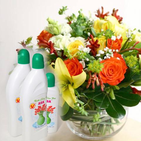 Nước cắm hoa giúp hoa tươi lâu, nước không thúi - Chỉ 60.000đ/ 03 chai