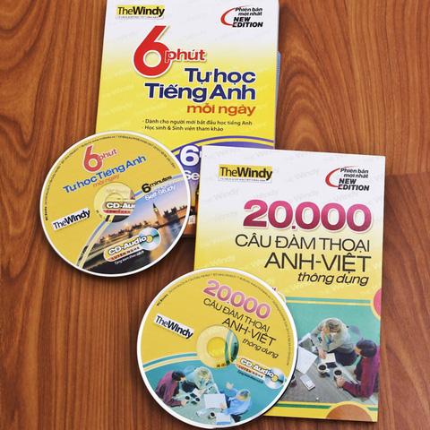 6 phút tự học tiếng Anh mỗi ngày + 20.000 câu đàm thoại Anh – Việt thông dụng. Chỉ với 69.000đ