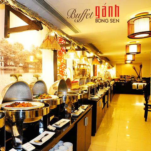 Buffet Gánh dành cho buổi trưa với hơn 40 món ăn đặc sắc 3 miền - KS Bông Sen