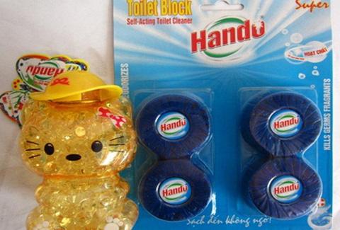 Combo 01 hộp sáp thơm + 01 vỉ viên tẩy bồn cầu Hando - Bộ đôi hoàn hảo cho toilet sạch mát, khử mùi - Chỉ 60.000đ