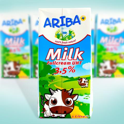 5 hộp sữa nguyên kem Ariba