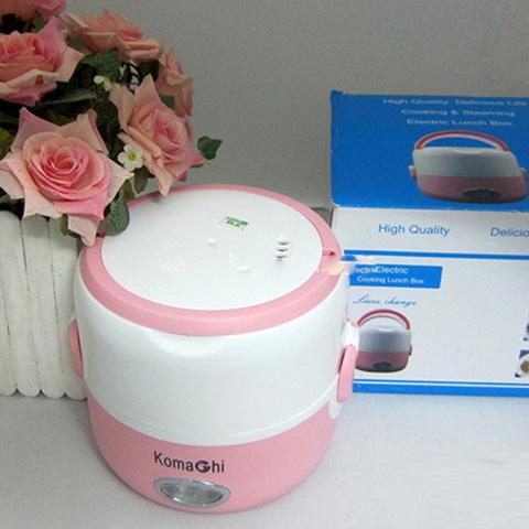 Hộp cơm hâm nóng Komachi 2 ngăn inox