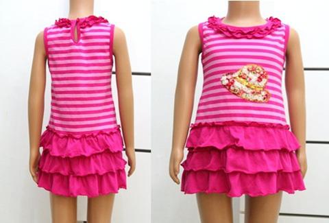 Váy hoa xòe trái tim xinh xắn cho bé gái từ 02 đến 05 tuổi - Chỉ với 70.000đ/chiếc