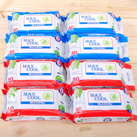 4 gói khăn ướt cao cấp Maxcool