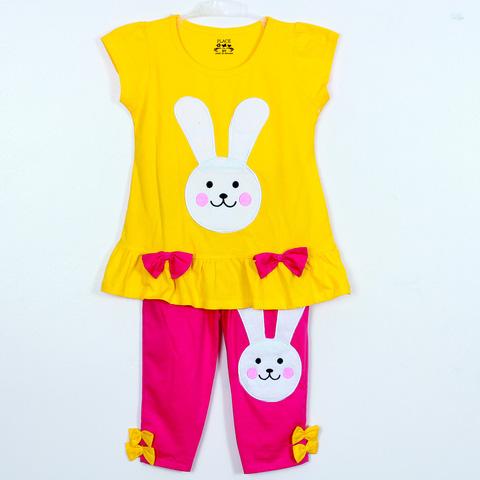 Bộ quần áo cotton hình thỏ đáng yêu