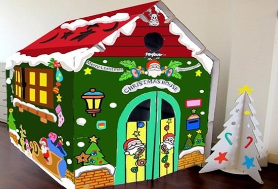 Món quà Noel tuyệt vời dành cho bé: Nhà Noel và cây thông Noel bằng Carton của Toybus.vn - Chỉ 349.000đ