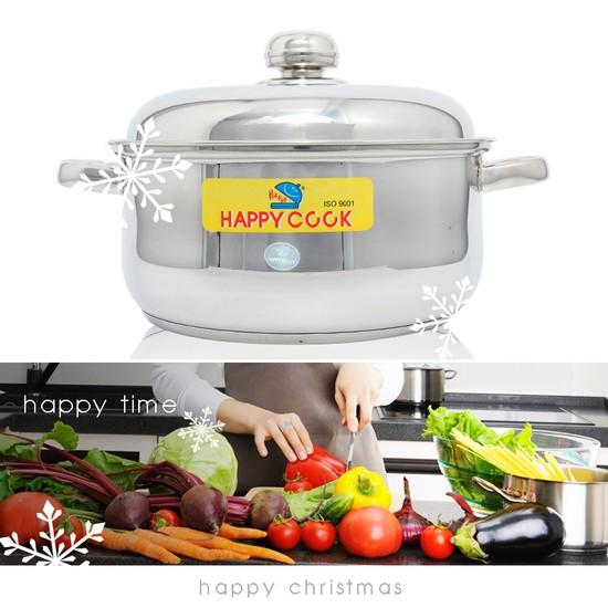 Bộ nồi + xửng hấp 2 trong 1 Happy Cook, món quà ý nghĩa cho việc nội trợ - Chỉ 285.000đ