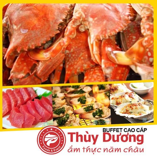 Buffet tại nhà hàng Thùy Dương