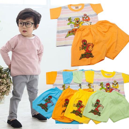 Combo 2 bộ đồ thun Siêu Nhân cho bé trai 1 tuổi