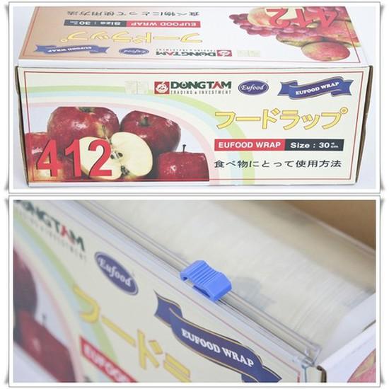Màng bọc thực phẩm Eufood Wrap 412 ĐT - Bảo đảm thực phẩm an toàn và tươi lâu