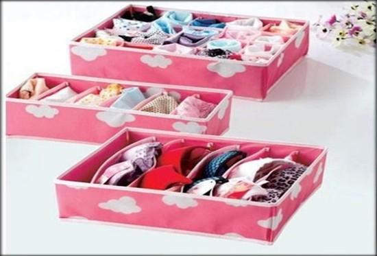 Bộ ba hộp đựng đồ lót xinh xắn, tiện dụng, giúp bạn sắp xếp đồ lót gọn gàng. Chỉ 99.000đ/bộ