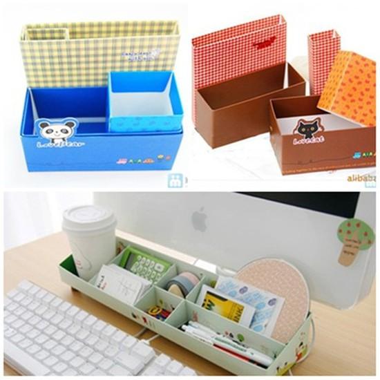 Combo 02 hộp đựng bút viết và vật dụng để bàn theo phong cách Hàn Quốc - Chỉ 59.000đ/2 hộp