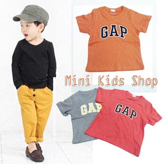 Bộ 2 áo thun cotton in chữ GAP cho bé trai (1 - 5 tuổi)